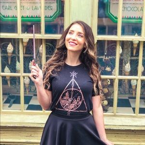 Rose Gold Harry Potter Deathly Hollows t-shirt